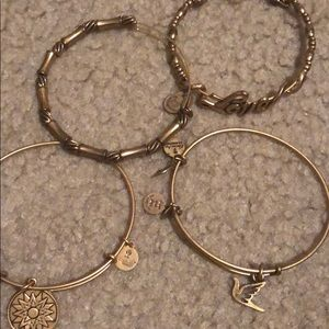 Alex and ani bracelets, all 4 come together